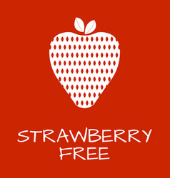 Strawberry free label food intolerance symbols vector