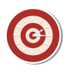 Target time clock isolated icon vector