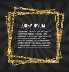 text in glitter frame eps 10 vector image vector image
