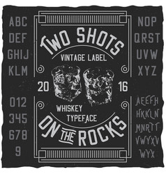 Two shots poster vector