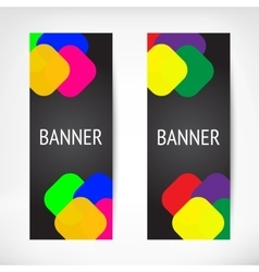 Vertical black web banners vector image