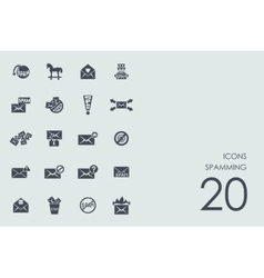 Set of spamming icons vector