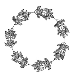 Isolated leaves crown decoration design vector