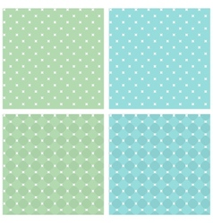 Set of seamless retro texture White green blue vector image