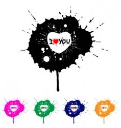 splash hearts vector image