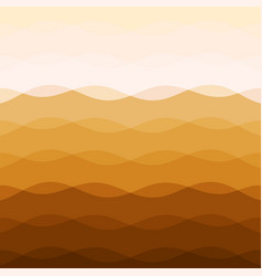 Abstract earth tone background with curve lines vector