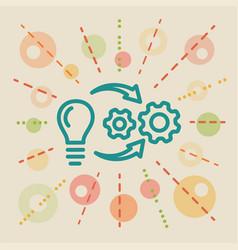 Implementation concept business vector