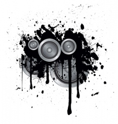 musical splash vector image