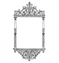 Ornate tall furniture frame vector