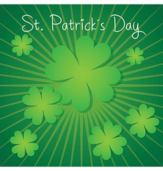 St patricks day lucky clovers on green background vector