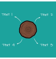 Tree rings scheme vector