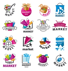 Biggest collection of logos for market vector