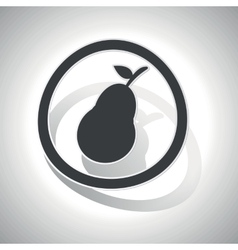 Curved pear sign icon vector