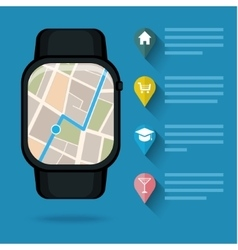 Gps concept in flat style smart watch vector