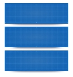 Blueprint banner backgrounds vector
