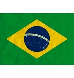 Brazil paper flag vector image