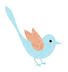Dreamy bird vector