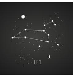 Astrology sign Leo on chalkboard background vector image vector image