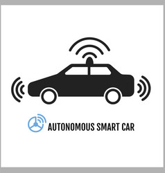 Autonomous smart car icon design vector