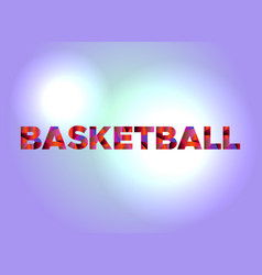 basketball theme word art vector image vector image