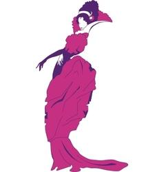 Beautiful baroque woman vector image