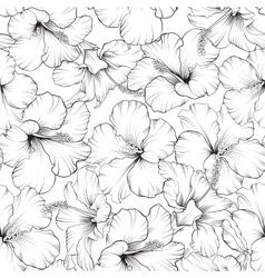 Beautiful hibiscus pattern vector image vector image