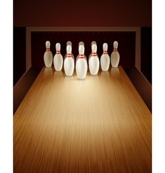 Bowling Game Realistic vector image vector image