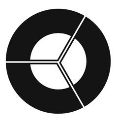 Circle diagram icon simple vector