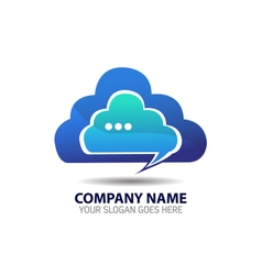 Cloud internet logo icon template vector