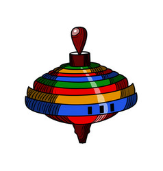 Color sketch of a whirligig vector