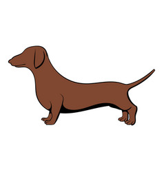 dachshund icon cartoon vector image vector image