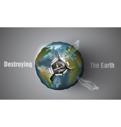 Destroying the Earth vector image