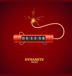 detonate dynamite bomb and timer clock vector image vector image