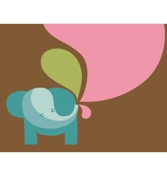 Elephant with pastel colors vector