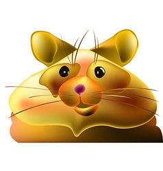 Fat hamster vector image vector image