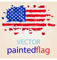 Flag of usa painted with watercolors vector