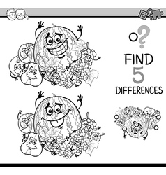 game of differences coloring book vector image