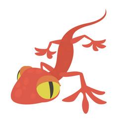Gecko icon cartoon style vector