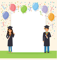 graduation students celebration vector image vector image