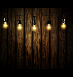 Light bulbs with glowing light vector