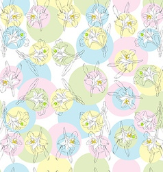 lilies pattern vector image