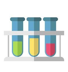 Multicolor test tubes isolated vector