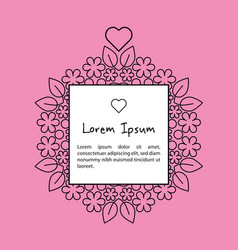 Pink banner with sample text vector