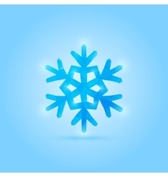 poly snowflake vector image