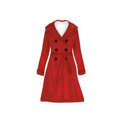 red woman elegant coat vector image vector image