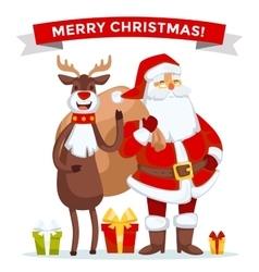 Santa claus cartoot old man vector