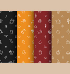 Set of backgrounds of black orange red and brown vector