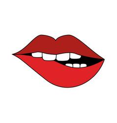 Sexy lips cartoon vector