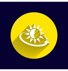 Sun cream containers icon sun tan vector