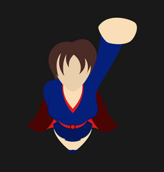 Super hero woman flat poster in comic style vector